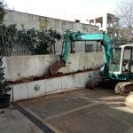 Αφαίρεση δέντρων από παρτέρι και φύτευση καινούργιων.