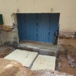 Κοπή για το άνοιγμα εισόδου γκαράζ